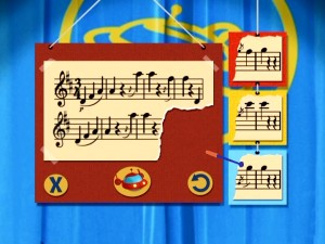 Pick out the right final two notes in the Virtuoso (Hard) level of the Music Mix-Up game.