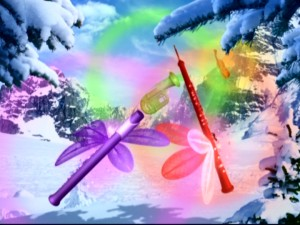 Ooh, look at the pretty instrument fairies. So that's where aurora borealis comes from. Or so we're told.