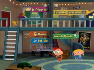 The Main Menu offers a wonderful look at the Little Einsteins headquarters.
