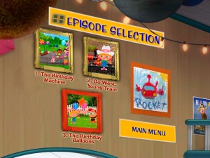 The Episode Selection menu is one of the few that differs from the previous Little Einsteins DVD.