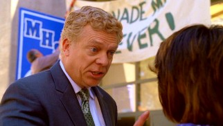 He may be blonde now, but Christopher McDonald otherwise reminds us of Shooter McGavin with his amusing antagony as Principal Brenigan.