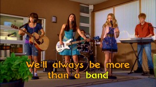 The Rock-Along mode animates the lyrics as Lemonade Mouth gathers at Olivia's Gram's house. Of course, they'll always be more than a band. There's a book and a movie too!