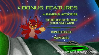 """Leroy & Stitch"" Bonus Features Menu"