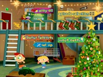 The Little Einsteins have apparently gone all out to decorate their underground hideout for Christmas on the main menu.