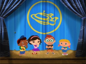 Each episode finds the Little Einsteins gang taking curtain calls and giving props to the public domain, I mean, timeless art and music appropriated, er, sampled!