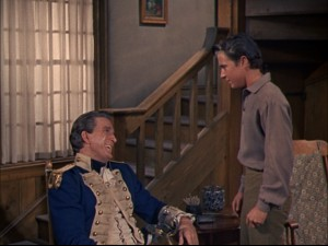 "Even though Uncle Fran is sitting down, Young Gabe Marion (""Mickey Mouse Club"" serial star Tim Considine) still looks up to him."
