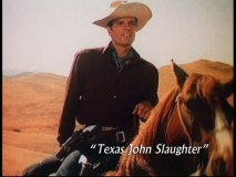 """Texas John Slaughter"" is one of the Disney anthology series featured in the featurette ""Walt Disney Presents Heroes of the American Frontier."""