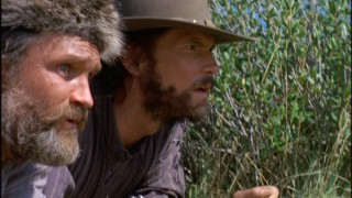 Edwards (Gregory Sporleder) and Charles (Cameron Bancroft) scout out Indian activity during some tumultous times.