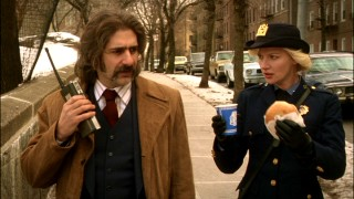 "Reflecting the times, the cast's lone regular female (Gretchen Mol) is nicknamed ""No Nuts"" and reduced to getting coffee and lunch while detective work is left to the men (like Michael Imperioli)."