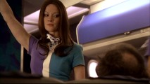 Posing as a dead brunette stewardess, Annie (Gretchen Mol) takes to the friendly skies for the first time.