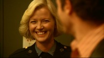 "Gretchen Mol can't help cracking a smile in bloopers reel ""Spaced Out."""