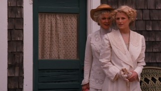 What's this? Two eligible ladies (Blythe Danner, Mamie Gummer) on the Isle of Woman-Hating? Scandalous!