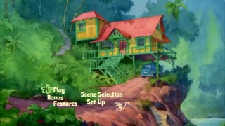 Lower key than the menus on the old DVD, Disc 1's animated main menu screen takes us to various locations from the film, such as the Pelekais' elevated house.
