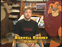 "Lion King II director Darrell Rooney (no relation to Mickey) in ""Proud of Simba's Pride."""