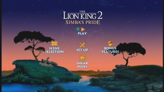 The Lion King 2: Special Edition - Disc 1's Main Menu
