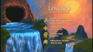 The Lion King 2: Special Edition - Disc 2's Main Menu