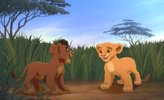 Kiara and Kovu meet the first time.