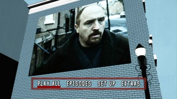 Season 1 clips decorate brick walls and other city places in the DVD main menu's New York City map maintaining the cover art's color palette.