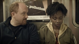 Louie (Louis C.K.) persists in his efforts to woo uninterested cashier Tarese (Adepero Oduye) on a painful subway ride.