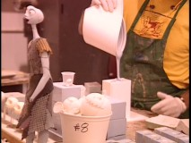 Creating puppets in 'The Making Of' featurette.