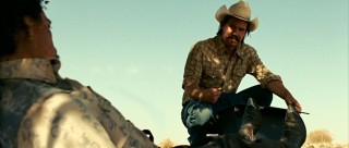Texas welder Llewelyn Moss (Josh Brolin) finds a two million dollar satchel, instantly changing the course of his life.