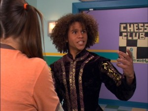 "Corbin Bleu hams it up as Spencer in ""The School Play"""