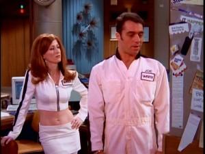 If WNYX were a futuristic space news station, secretary Beth (Vicki Lewis) would still bare her midriff and electrician Joe (Joe Rogan) would still be reluctant to ask for help.