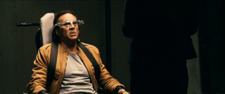 Nicolas Cage has sort of A Clockwork Orange kind of moment or maybe he's just enjoying the funny eyewear.