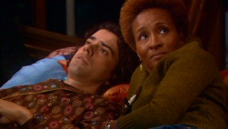 Comic supporting characters Matthew (Hamish Linklater) and Barb (Wanda Sykes) briefly flirt with couple status, to Christine's horror.