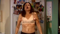 Perimenopausal symptoms give us reason for Julia Louis-Dreyfus to parade around sweaty in a bra, with underarm popsicles to cool her down.