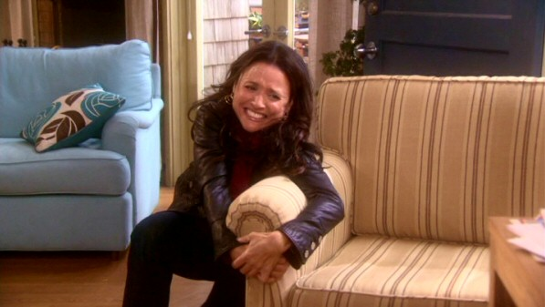 Reclaiming the couch Christine no longer wants Richard and New Christine to have allows Julia Louis-Dreyfus to show off her physical comedy skills.
