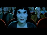 Nothing says American film like Amélie (Audrey Tautou), who appears in the AFI's minute-long watching movies in movies montage.