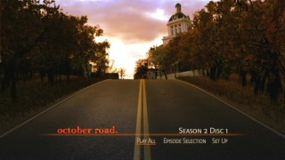 The set's minimally-animated main menu shows the rarely-seen October Road from a different angle than the previous set's.