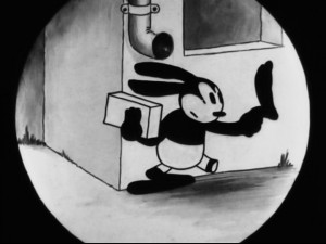 There's more where this came from: iris shots and Oswald's signature move (removing his left foot and kissing it for good luck) both occur multiple times throughout this set, the former more than the latter.