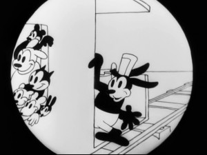 If you squint, you can kind of see Steamboat Willie.
