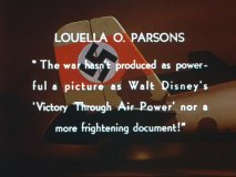 A quote in the Victory Through Air Power theatrical trailer