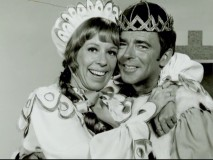 "Carol Burnett is seen as Broadway's original Princess Winnifred in this still from ""The Making of ""Once Upon a Mattress."""