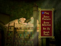 Winnifred struggles to sleep in the inspired animated main menu, which also showcases Prince Dauntless and Queen Aggravain from time to time.