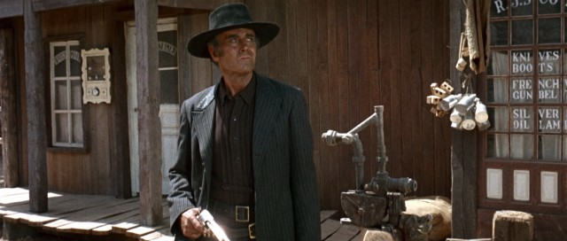 Frank (Henry Fonda), the film's ruthless villain, finds himself an unexpected target in the town of Flagstone.