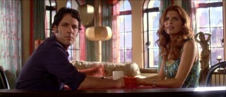 "Henry (Paul Rudd) and Ashley (Lake Bell) have their first psychic meeting interrupted by a disturbance in ""Over Her Dead Body."" (It's not a poltergeist.)"