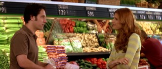 "Two of the film's best scenes take place in a supermarket. Here, Henry and Ashley have a ""chance"" re-encounter among colorful produce."