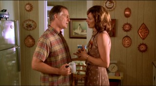 Billy (Keith Carradine) and Joan Whitfield (Alison Janney) talk things over in their very '70s kitchen.