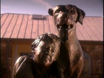 This statue of Travis and Old Yeller was unveiled in Mason, Texas.