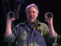 "Wayne Allwine (the voice of Mickey Mouse) illustrates the aural power of a coconut in  ""Foley Demonstration."""