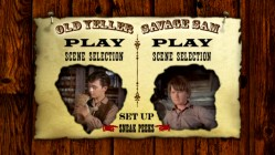 "The Main Menu of Disc 1, ""Old Yeller: 2-Movie Collection"""