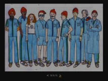 This sketch of Team Zissou in their signature threads resides in the Designs gallery.