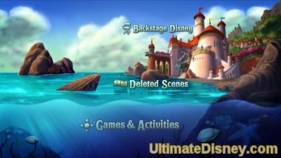 The Little Mermaid: Platinum Edition - Disc 2 Main Menu