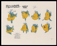 A model sheet for Flounder is relegated to the Miscellaneous Characters gallery.