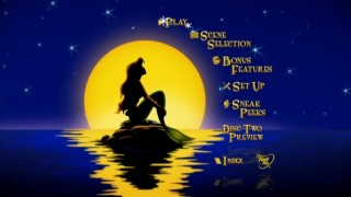 "The Main Menu for Disc 1 of ""The Little Mermaid"" Platinum Edition DVD"