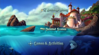 "The Main Menu for Disc 2 of ""The Little Mermaid"" Platinum Edition DVD"